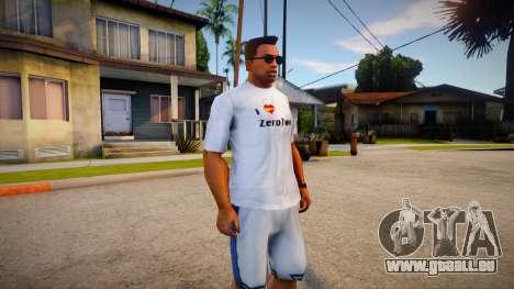 I Love Zerotwo Shirt For CJ Original für GTA San Andreas