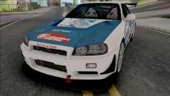 Nissan Skyline GT-R R34 Itasha [Fixed] pour GTA San Andreas