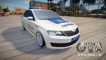 Skoda Rapid - Patrouillenpolizei der Ukraine für GTA San Andreas