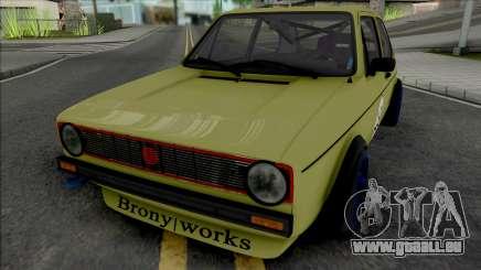 Volkswagen Golf MK1 Brony Works Race Car pour GTA San Andreas
