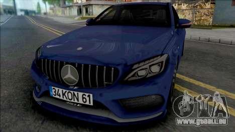 Mercedes-Benz C200 W205 AMG pour GTA San Andreas