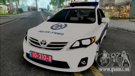 Toyota Corolla 2013 Israeli Police pour GTA San Andreas