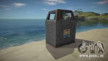 HD Trash Bin pour GTA San Andreas
