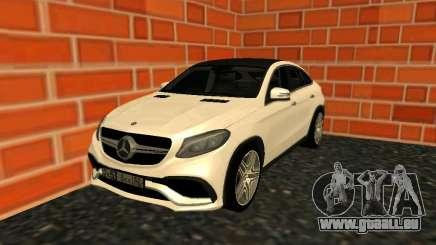 Mercedes-Benz GLE 63 AMG RUS Plates pour GTA San Andreas