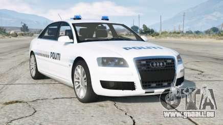 Audi A8 L 6.0 quattro (D3) 2005〡Danish Police pour GTA 5