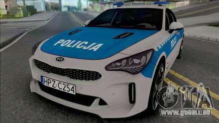 Kia Stinger GT Policja WRD KSP für GTA San Andreas