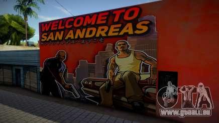 Mural - Welcome to San Andreas für GTA San Andreas