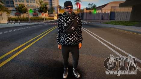 New Cwmonb2 Casual V1 Don Pancho Hoodie LV 3 pour GTA San Andreas
