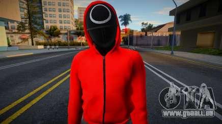 Male Random Guard N1 Squid Game pour GTA San Andreas