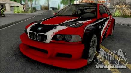 BMW M3 GTR Stacked Deck (NFS Carbon) für GTA San Andreas